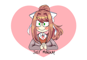 Just Monika by misskaylawn
