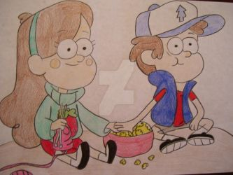Mabel and Dipper by AJLeefan4life