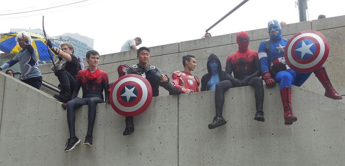 Marvel Guys On A Ledge by R-Legend