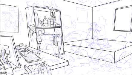 Gil's bedroom WIP by gilll