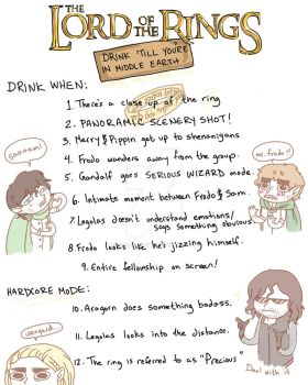 Lord of the Rings Drinking Game by Internal-Disaster