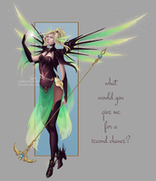 Faerie Witch Mercy Skin Concept by Flurryfox