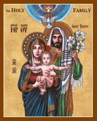 The Holy Family icon by Theophilia