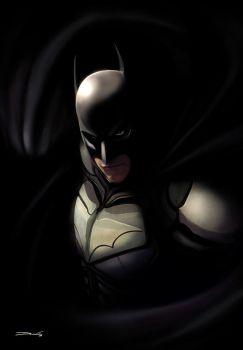 The Dark Knight - by DanLuVisiArt