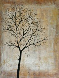Lonely Tree Acrylic Original 16x20 by TheJennaBrown