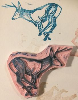 Deer Stamp by Quadrupedal