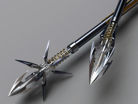 Heretic Composite Bow Arrows closeup by Samouel