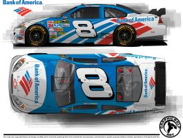 B of A Sprint Cup car by graphicwolf
