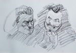 Lifedrawing quicksketch portraits by Neivan-IV