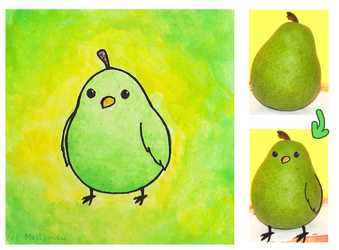Pear-Bird by Mellymiew