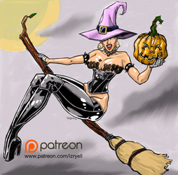 RockGirlHalloween by Izryell