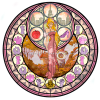 Giselle - Kingdom Hearts Stain Glass by reginaac57