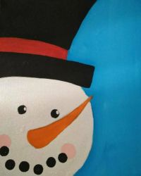 Snowman Painting by C-K-Whisper