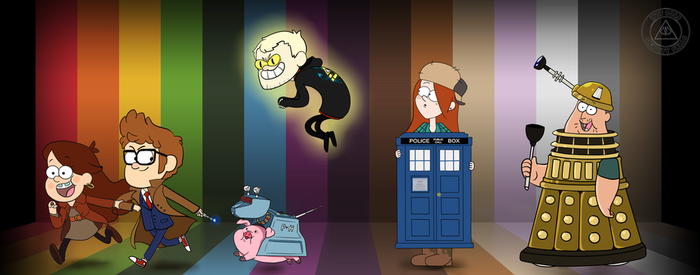 Gravity Falls and Doctor Who by greensky222