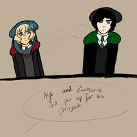 Hogwarts AU: Project Partners by Mouse-La-Flutist