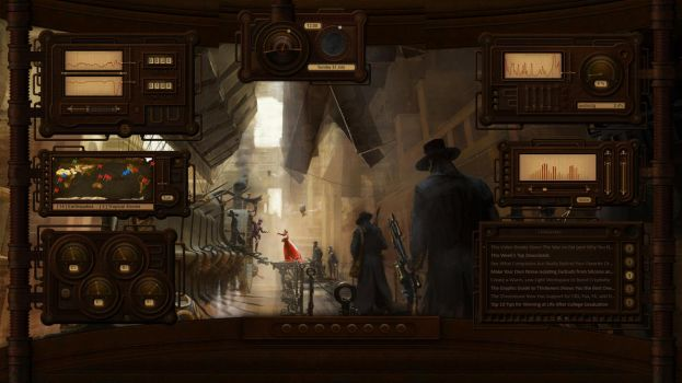 Rusty Plates and Pipes - a Steampunk HUD by Mordasius