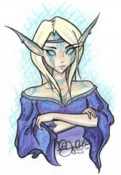 Frost Mage in Copic Marker by bearhugplz