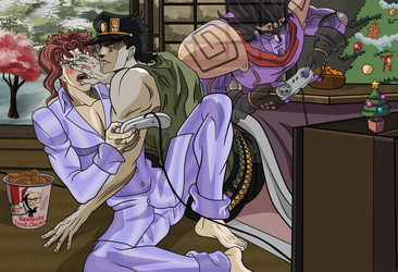 jotaro the video game cheater by zinni
