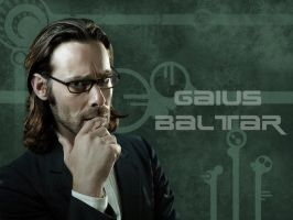 Gaius Baltar Wallpaper by babylon-burning