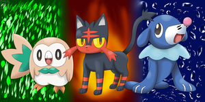 Alola Starters by SuperPikachuLover123