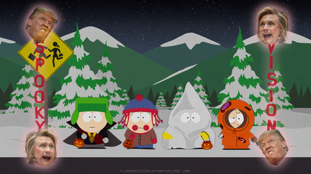 South Park Classic Bus Stop - Halloween Edition by hercamiam