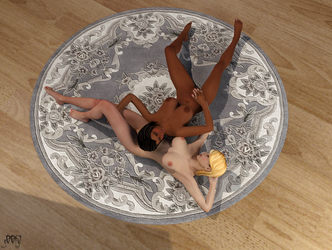 Lounging Girls 1 - DAZ3D Lux by g00fy1