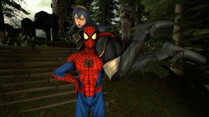 Spider-Man and Lucina : Protected by kongzillarex619