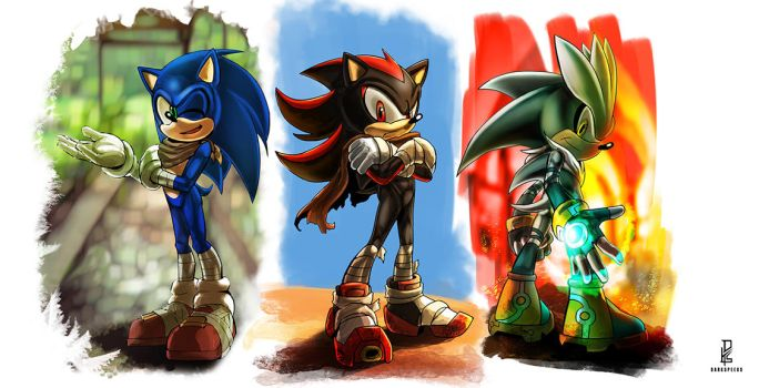 Boy Boom Hedgehogs by darkspeeds