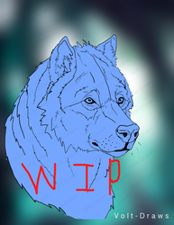 Wolf WIP by Volt-Draws