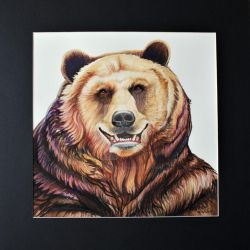Huggy the Happy Bear Matted  by HouseofChabrier