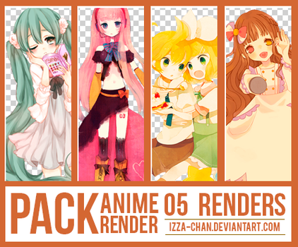 || PACK || 05 Renders Anime || by Izza-chan