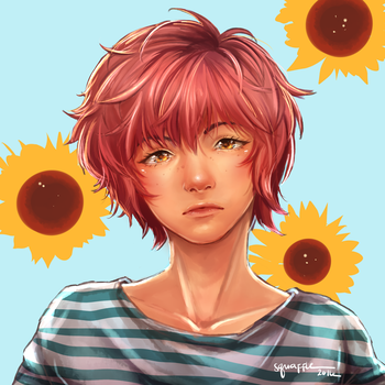 Late Sunflower by Squaffle