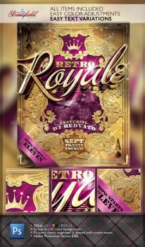 RETRO ROYAL CLUB FLYER TEMPLATE by STRONGHOLDSTUDIOS