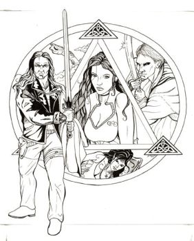 Hero-Lore Anthology cover bnw by DocRedfield