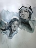 Rise Of the Tomb Raider WIP by Hollow-Moon-Art