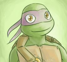 TMNT: Happy Donnie by Fulcrumisthebomb