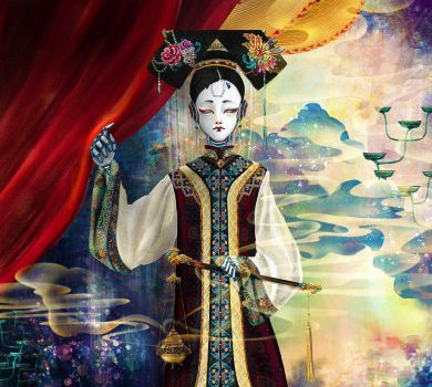 Court Lady Robot of Qing Dynasty by valda515