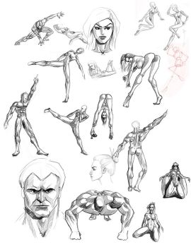 Sexy memory drawings with anatomy by discipleneil777