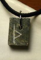 Stone Rune Necklace by UrnesAshTree