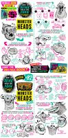 MONSTER HEADS TUTORIAL - 5 days to get the BOOK! by STUDIOBLINKTWICE