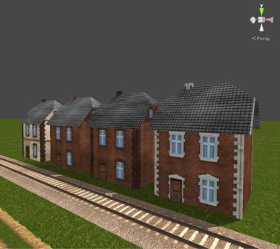 Train Driver 2 Models - Polish Houses by Jakhajay