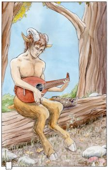 Faun and duck by zornisse