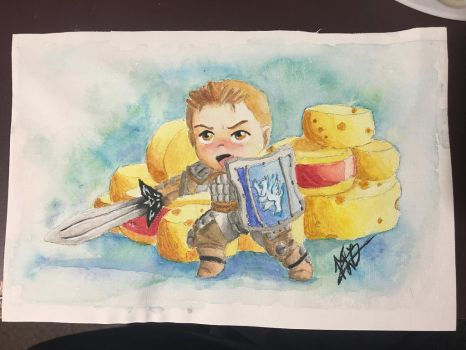 Alistair guards his cheese with his life by Sangosweetheart