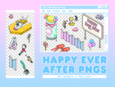 PNG PACK: Happy Ever After (BTS 4th Muster) by Hallyumi