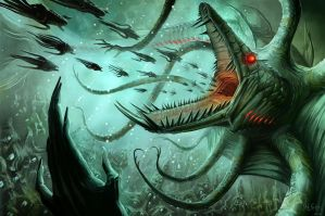 Dagon, Demon Prince of the Sea by MichaelJaecks