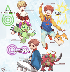 BTS x Digimon pt2 by piikoarts