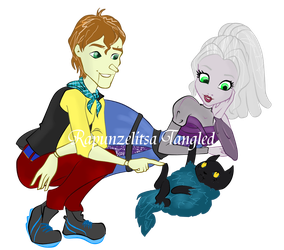 Ever After High commision : Arlin and Eva by RapunzelitsaTangled