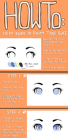 Eye Coloring Tutorial 2013 - Paint tool SAI by soorujoosu