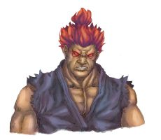 Gouki - Street Fighter Color by Mick-cortes
