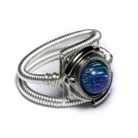 Cyberpunk Ring Turquoise Opal by CatherinetteRings